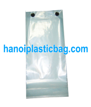 Custom printed logo wicket plastic bag for shoping/chicken packaging