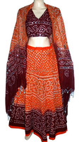Designer Ghagra Choli, Traditional Bandhani Chaniya Choli, Navratri Cotton Chaniya Choli