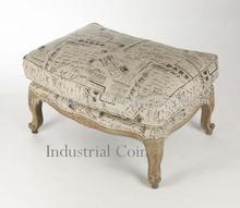 French style cushioned ottoman furniture