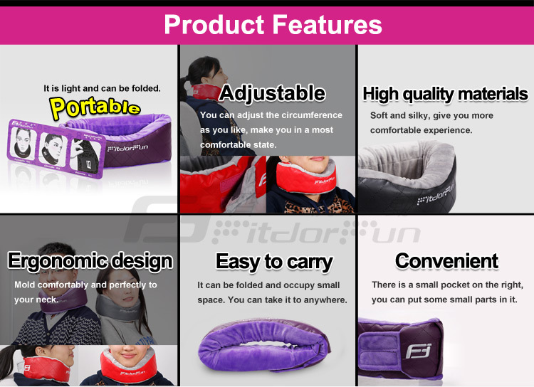 2015 New Products Colored Portable Type Adjustable Comfortable Foam Travel Neck Cushion Pillow Manufacturer