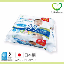 useful mother care and baby products Baby wipes with 99% pure water and sodium hyaluronate 80 sheets /pack x 3P