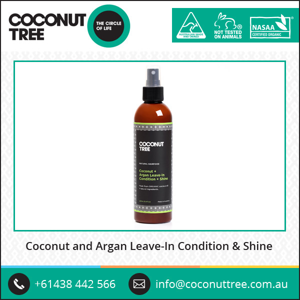 Natural Oil Enriched Coconut and Argan Oil Leave In Conditioner In Spray Pack