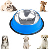 Stainless Steel No-Tip Dog Bowls - Choose Your Size and Color Blue
