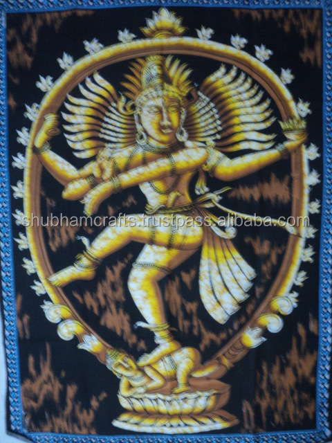 shiva batik printed wall hangings