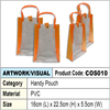 Orange & Transparent PVC handy bag / packaging bag