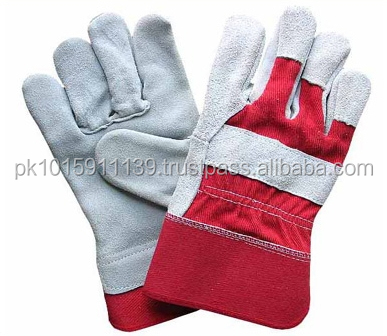 Work Gloves Natural white cow split leather, inside/Safety Gloves working leather gloves
