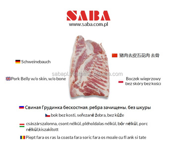 Frozen Pork Belly | Streaky Pork | Different cuts from Poland !
