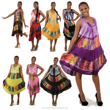 African knitted printed maxi umbrella dress / 2018 new design embroidery pattern kaftan & gowns wear