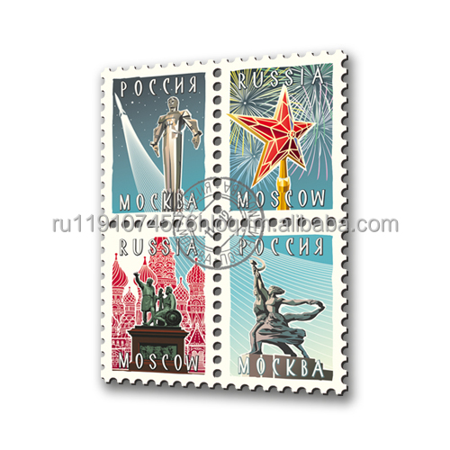 Fridge Magnet Moscow (Set of 4 )