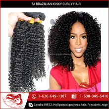 Factory Direct Export Quality 6A Brazilian Kinky Curly Human Hair Wig for Sale