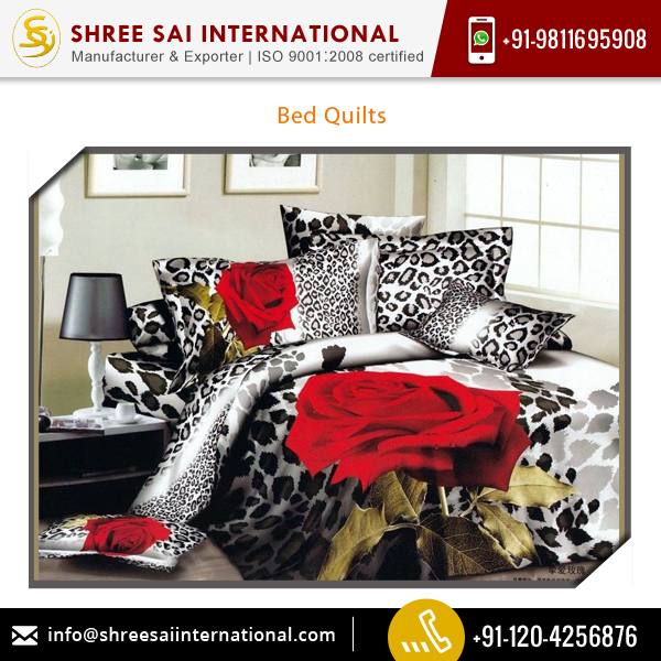 Quality Finish Standardize Bed Quilts Available for Bulk Sale