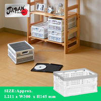 Storage box Japan design collapsible box stackable container DVD case kid room living kitchen container stackable bin FLEXX DVD