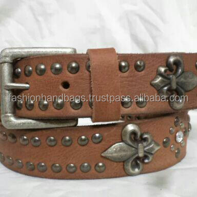 New Fashion Stud Spike Handmade Leather Belts