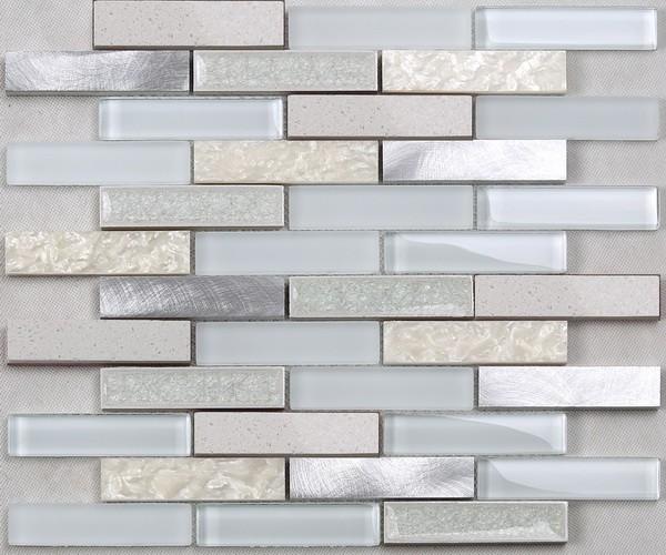 Building Materials Mixed Color Glass Metal Crystal