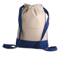 Eco-friendly Promotional Cotton Drawstring back pack Bag