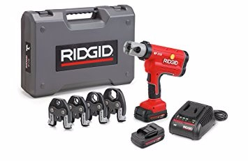RIDGID RP 210-B Compact Press Tool - 31028 Hydraulic Crimping Tool with ProPress Jaws - PureFlow PEX Compatible (Cordless)