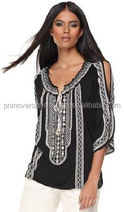 Stone Embroidered Beach Tunic