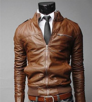 Professional Brown Color High Quality Men,s Leather Jackets / Best Leather Jackets / 100 % Cotton Men Leather Jackets