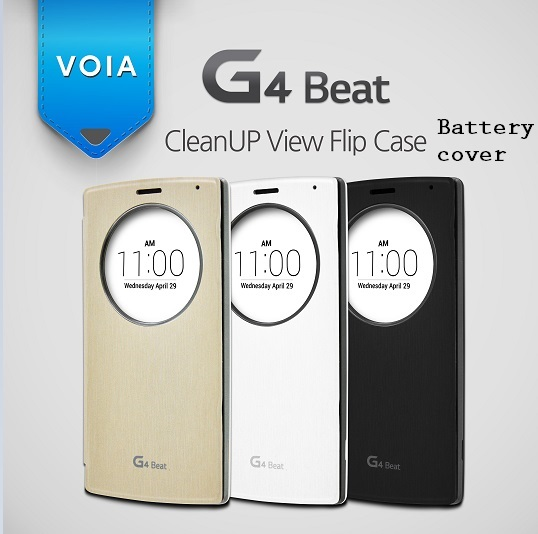 VOIA for LG G4 Beat CleanUP Quick Circle Flip case Battery cover type