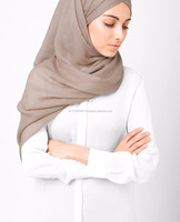 Silk Route Hijab Islamic Design House Head Scarf Modest Hijab Latest Hijab Fashion Beautiful Hijab - Warm Taupe Viscose Scarf