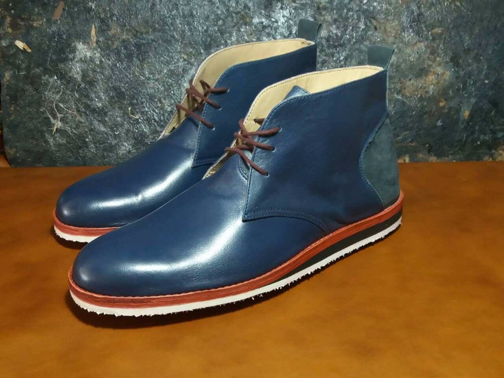 chukka boots genuine leather handmade