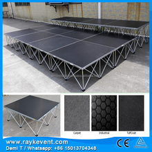 RK car exhibition aluminum portable stage deck for events school portable stage folding stage