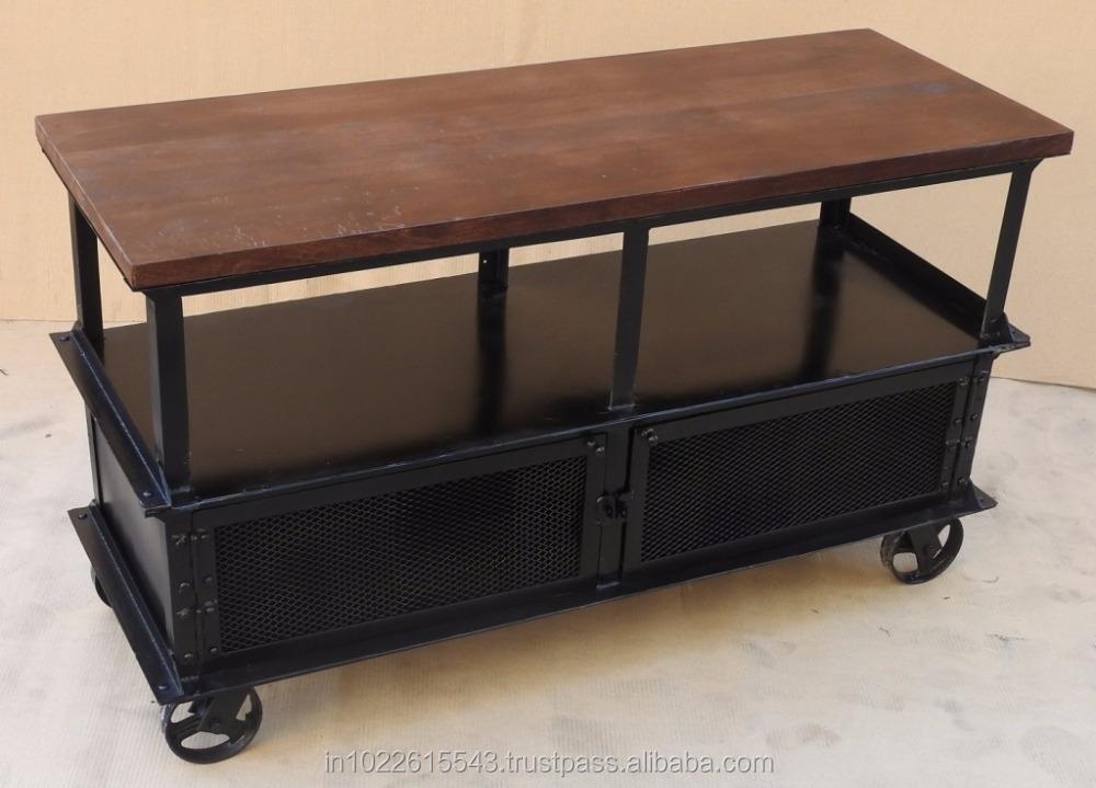 Industrial console wheel table view roller