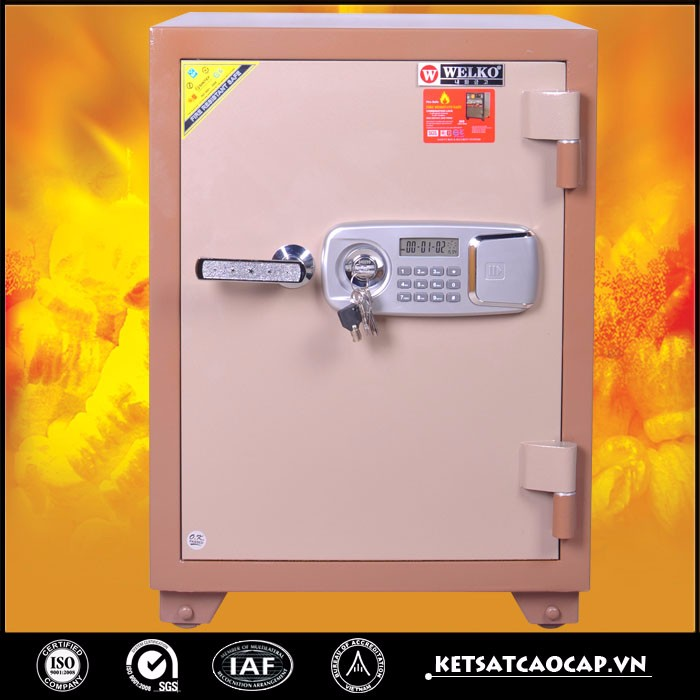 Steel digital electronic mini fireproof timed lock safe box - KS 140 EV