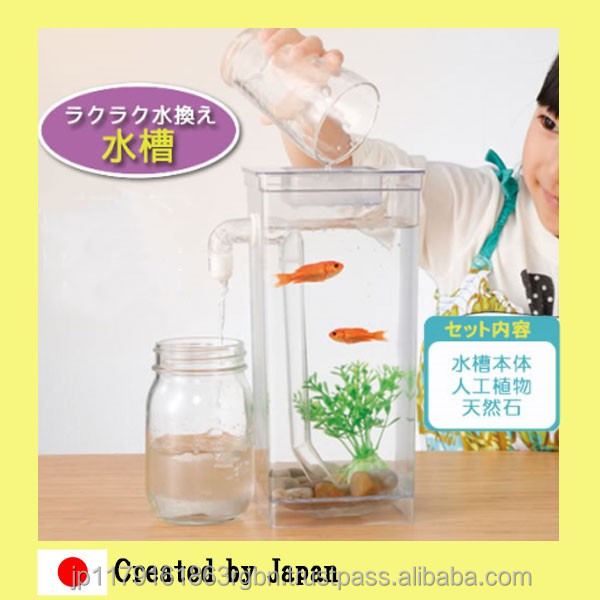 Hot-selling and Durable fish tank stand with stone , artifical seaweeds created by Japan