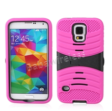 Wholesale Combo Case For Samsung S5 Horizontal Kickstand Armor Case - Black