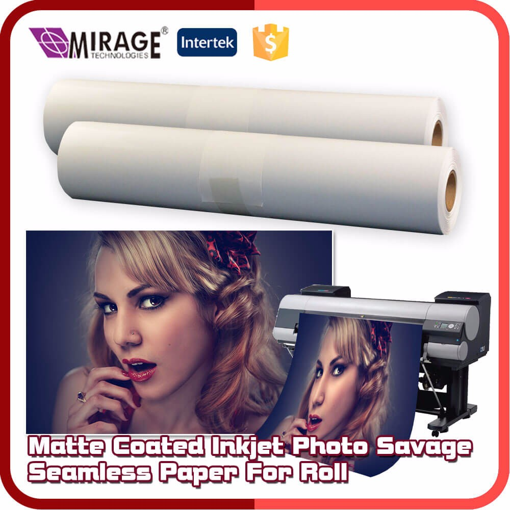 Matte Coated Inkjet Photo Savage Seamless Paper For Roll