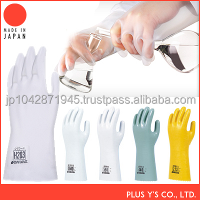 Solvent-resistant silicon gloves led gloves Made in Japan