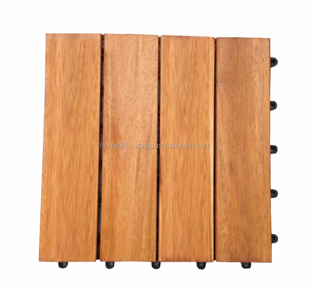 Solid Wood Acacia Decking Tiles