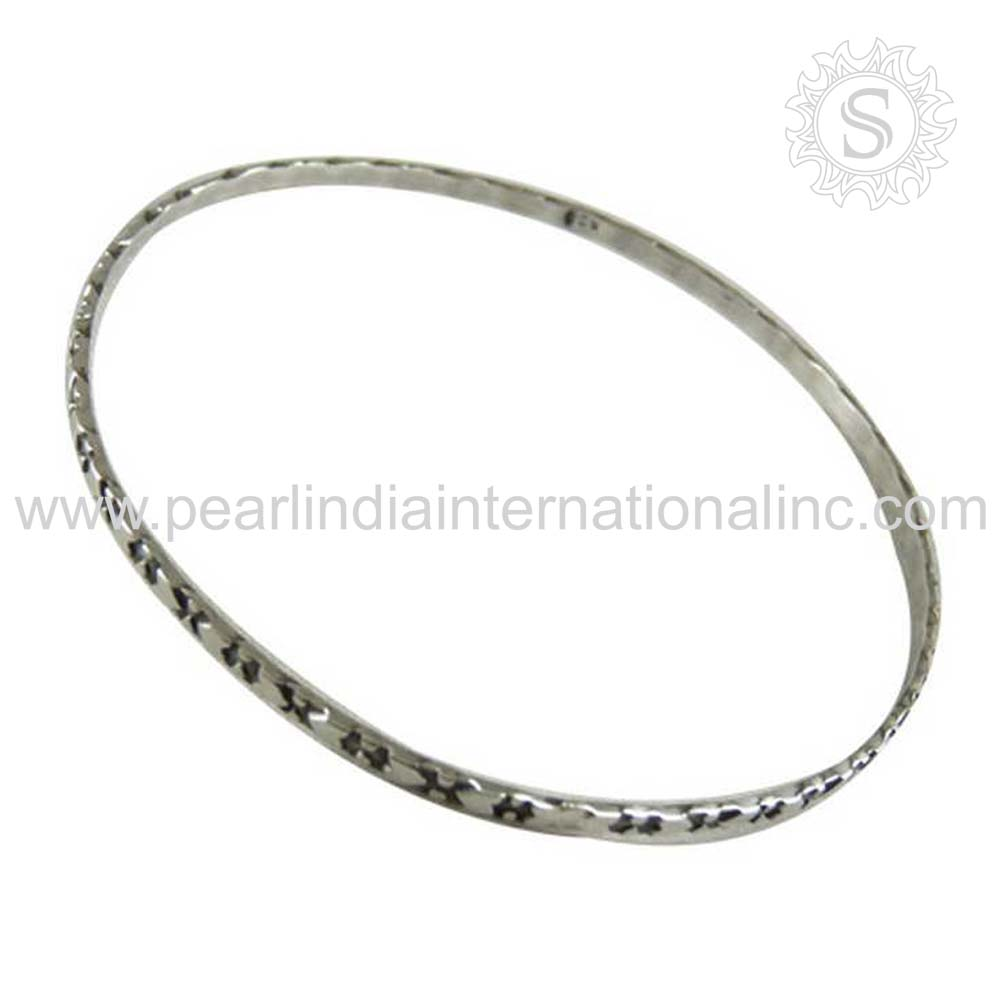 Rattling Design Solid Silver Bangle 925 Sterling Silver Jewelry Wholesale Wedding Silver Jewellery