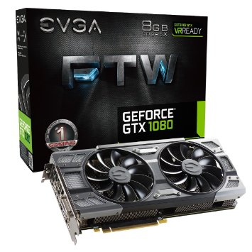 New EVGA NVIDIA GeForce GTX 1080 8GB FTW GAMING ACX 3.0 GDDR5X Graphics Card
