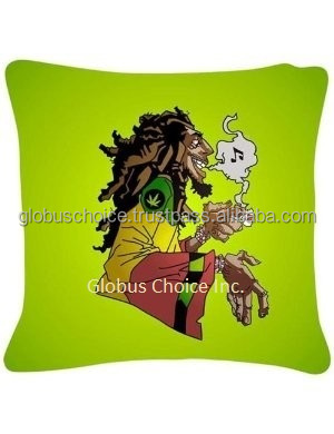 Indian Pillow Case Digital print Bob Marley silk blend home interior decor Cushion Cover