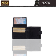 low price PU/ leather wallet in black color only for men