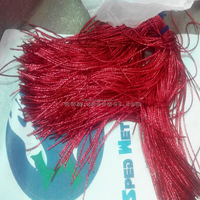 Red decorative frizzled crafting krinkle embroidery bullion rough purl smooth