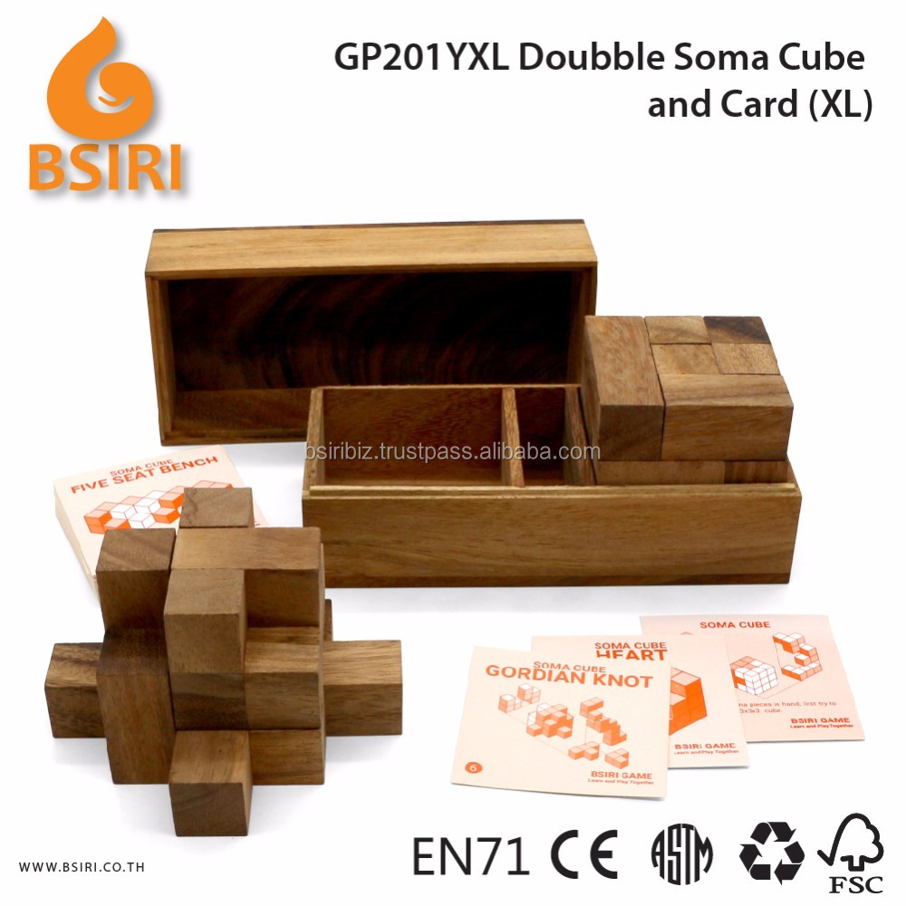 Doubble Soma Puzzle and Card Wooden Kids Toys