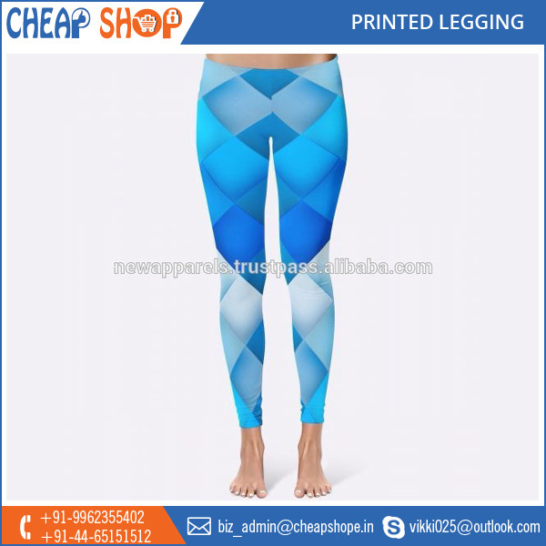 Factory Price Superior Finish Printed Leggings Available in Vibrant Colors