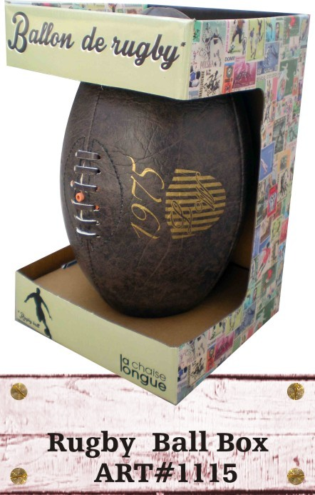 Digital Printed Rugby Ball made of artificial Faux Leather