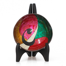 High quality coconut nature various pattern inspired Vietnam coconut shell bowl hand painting lacquer good price