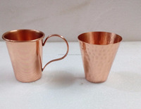 100% Food Safe Pure Copper Shot Cup From India