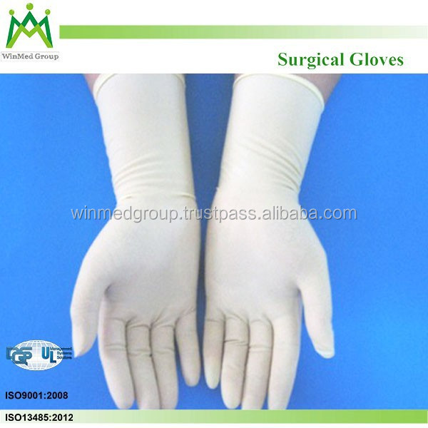 Surgical Glove Latex Surgical Glove with Single Packing and Sterilized