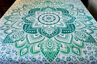 Indian Mandala Ethnic Quilt Throw Screen Printed Cotton Duvet Cover