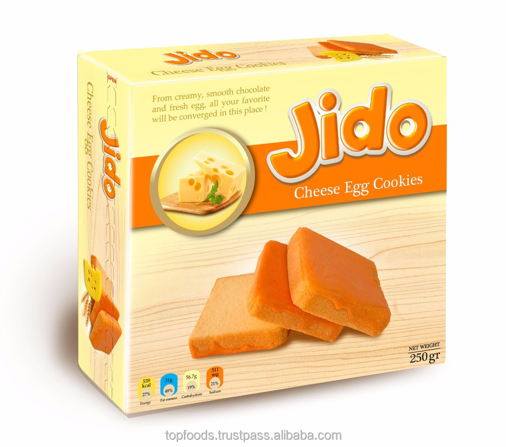 Jido cheese egg biscuits 250gr bag from Vietnam