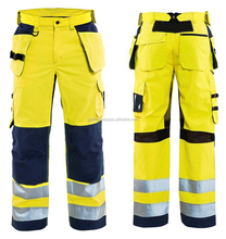 High Vis Reflective Work Trouser with Holster Poackets