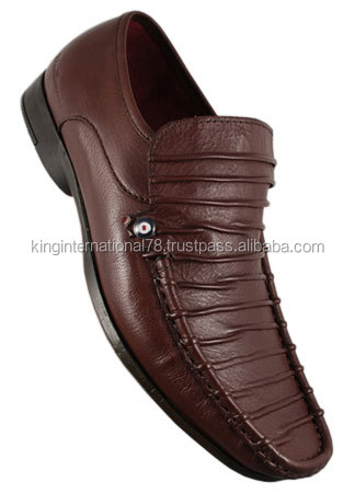 leather men fashion shoes