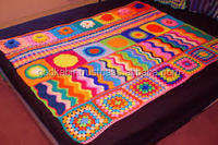 Beautiful indian design and Handmade 100% wool blanket