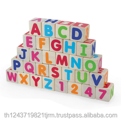 Wooden toy Blocks cube natural/coloured for Children wholesale price
